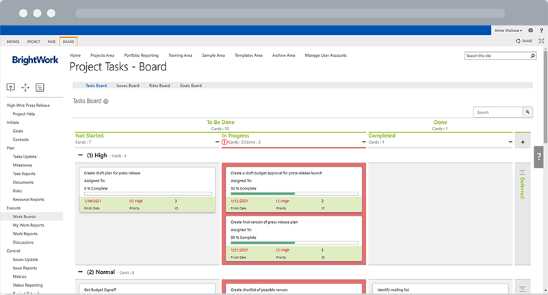 BrightWork Agile Boards for SharePoint