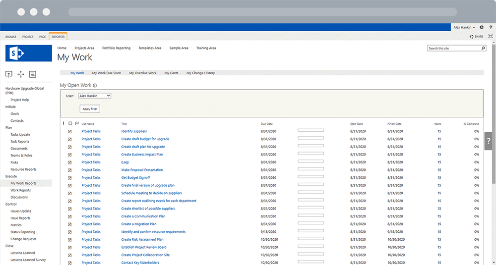 Tracking Project and Non-Project Activities in SharePoint