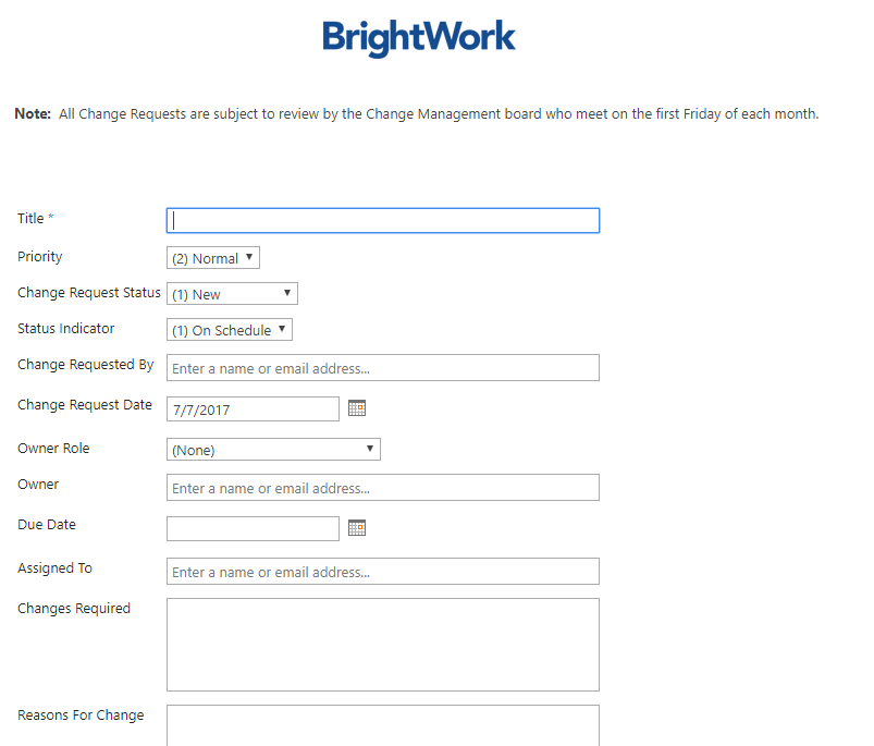 BrightWork Tip: How to Configure SharePoint Forms