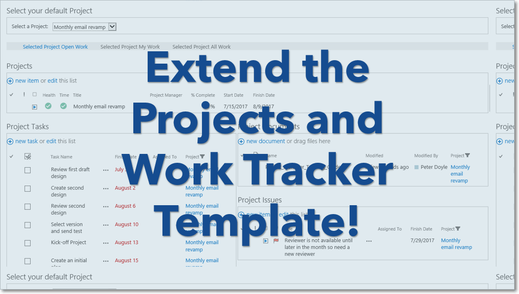 BrightWork Tip: Extend the Projects and Work Tracker Template