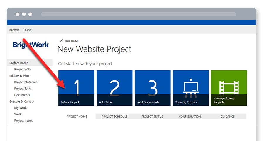 Free SharePoint Project Management Template Add project statement