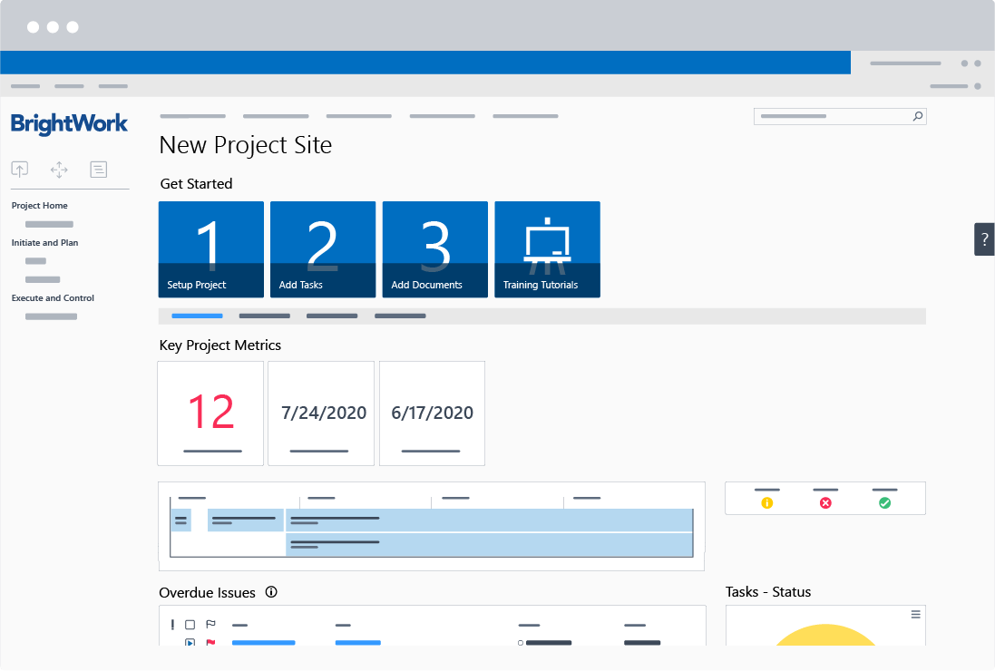 BrightWork Free SharePoint Project Management Template