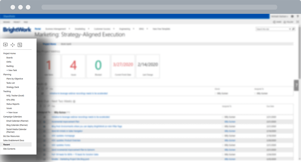 SharePoint Marketing Site Quick Launch