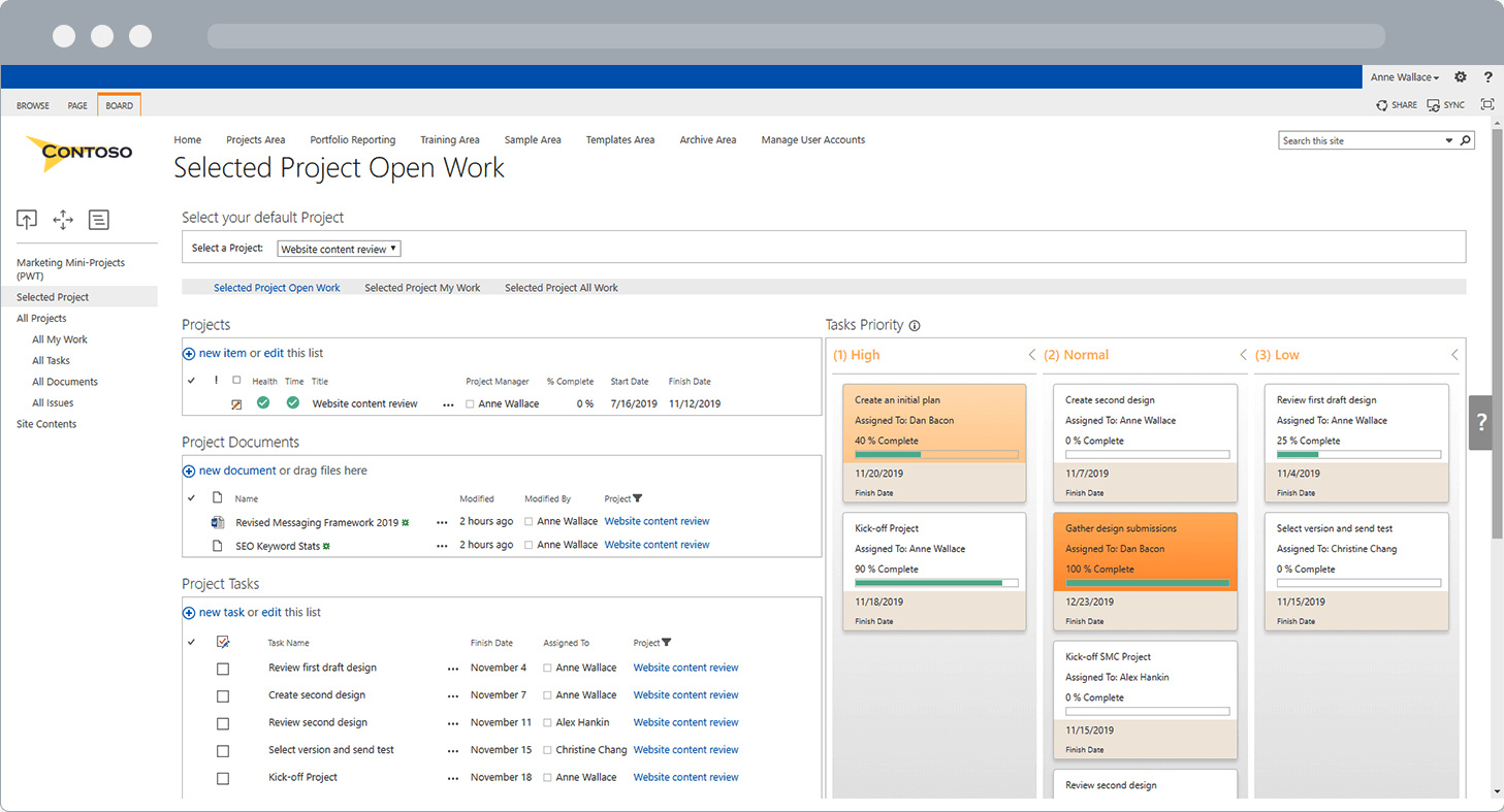 BrightWork PPM Software SharePoint