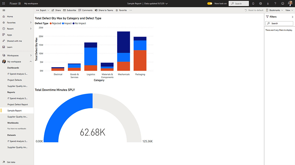 Power BI Service Preview a Report